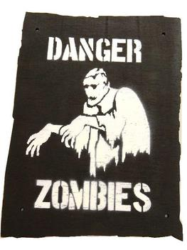 Danger Zombies Zone warning sign Great for Kids Dens