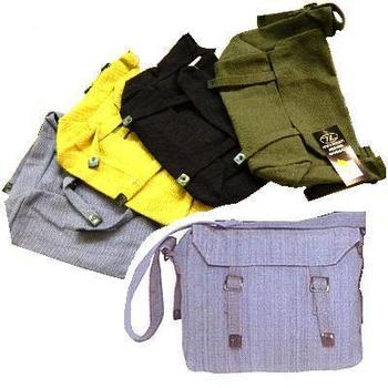 Webbing Haversack Canvas Shoulder Bag or side pack Different Colours