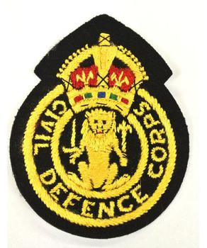 Civil Defence Corps sew on Badge