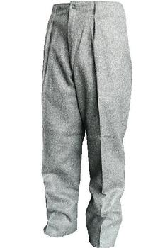 Grey Wool Trousers Danish Civil Defence Issue Heavyweight Grey Trousers, New