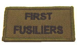 Subdued Cloth badge of the First Fusiliers