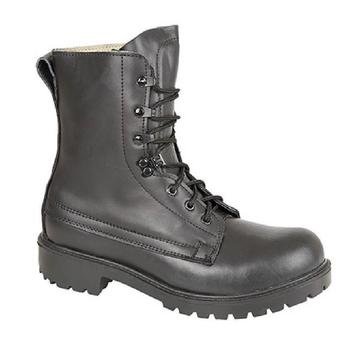 UK Size 3 to 6 Black Leather British Assault Boot