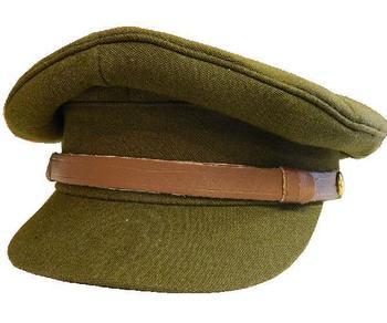 Khaki Cap WWII Style Khaki Peaked Hat Military Officers WW2 style 5b2e0eb670e