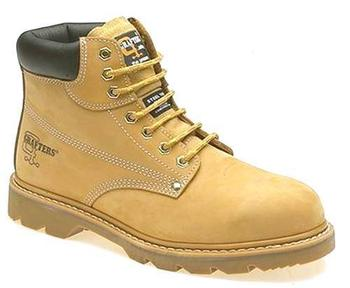 333a9281f1a Steel Toe Cap Boot Honey Nubuck Colour Stitched Sole Internal Safety Toe  Boots (M124N)