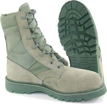 301c518cceb Thorogood Sage Green / Tan Boots US Military issue Steel Toe Vibram Sole  Boots, New