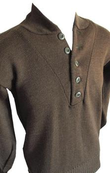 958e7743d6 US Army Sweater Olive Drab 100% Wool Genuine Vintage WWII Button Top Jumper