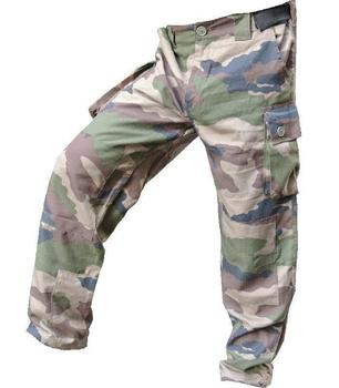 USED Camo Combat Trousers French Camo cargo / Combat trousers narrow belt loop