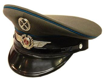 7fe5c69ba7d21 East German Airforce Visor Cap Grey Peaked DDR Military hat