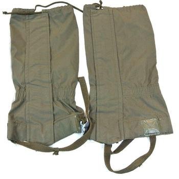 Olive green German military issue gaiters (grade 2)