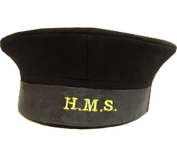 WWII Style Naval Pie hat WWII style HMS Naval Black / Navy Hat