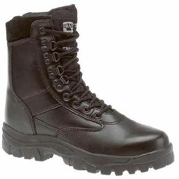 Combat Boots Black Leather Grafters Top Gun Thinsulate Lined Patrol Boots (M671A)