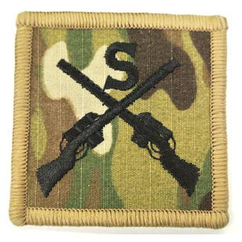 MTP Sniper Badge Patch Multicam Trained Badge patch