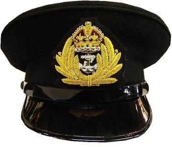 Naval Cap WWII Style Peaked Officers Hat With KC Badge New WW2 Hat