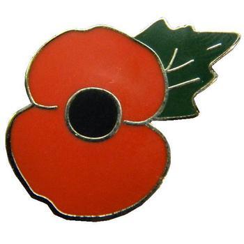 Poppy Badge, plain enamel poppy pin badge