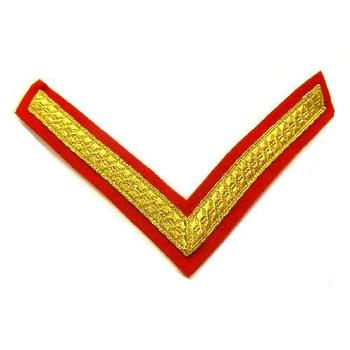 Red Ceremonial Lance Corporal Stripes - Pair