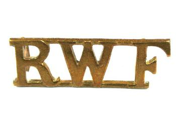 Royal Welsh fusiliers Brass Shoulder Title (pair)