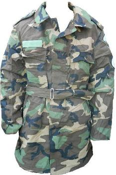 Slovakian Cold Weather Woodland Camo Warm Lined Parka 40 Chest