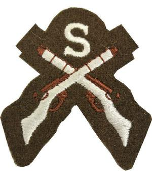 Khaki Cloth Sniper trained sew on badge