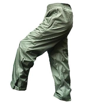 Green Ripstop Waterproof and Breathable Tempest over trousers, New