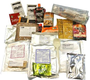 Hindu Sikh Ration Pack 24 Hour Combat Ration Pack Survival Food / Bushcraft