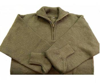 Army Jumper Overhead Military Issue half Zipped Italian Knitted jumper
